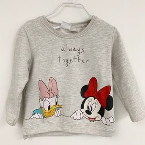 Zara Daisy Duck & Minnie Mouse sweatshirt sz